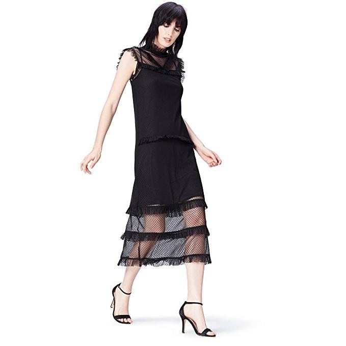 a841839800e7 FIND Vestito in Pizzo con Rouches Donna